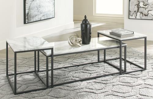 Donnesta Gray/Black Occasional Table Set (3/CN)