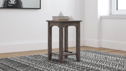 Arlenbry Gray Chair Side End Table