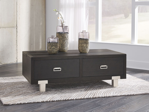 Chisago Black Rect Lift Top Cocktail Table