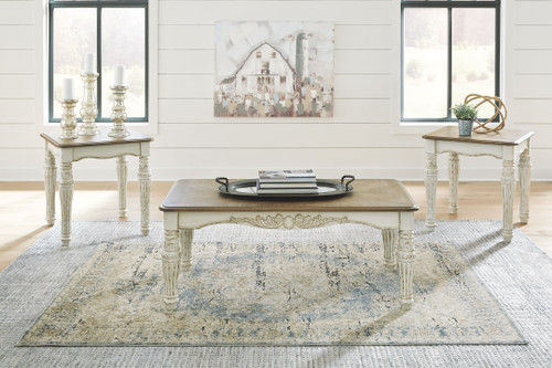 Realyn Two-tone Occasional Table Set (3/CN)