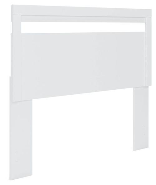 Flannia White Queen Panel Headboard