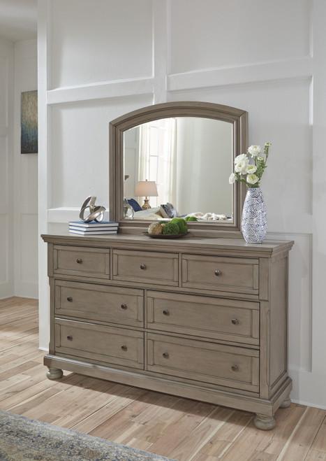 Lettner Light Gray Dresser, Mirror