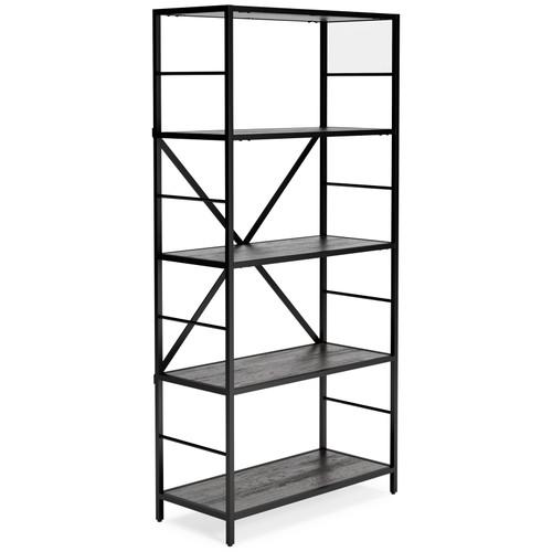 Freedan Grayish Brown Bookcase