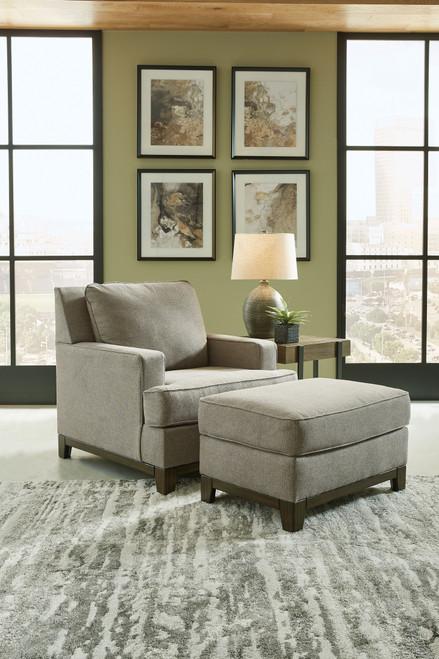 Kaywood Granite 2 Pc. Chair, Ottoman