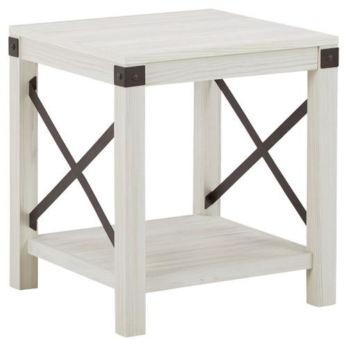 Bayflynn Whitewash Square End Table
