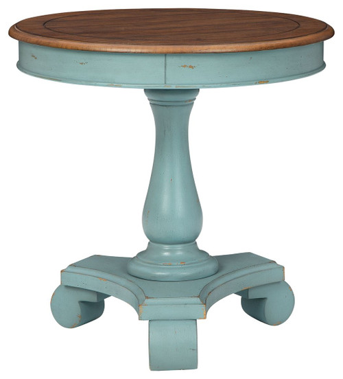 Mirimyn Teal/Brown Accent Table