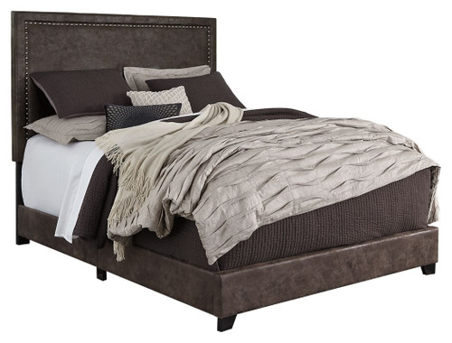 Dolante Brown Queen Upholstered Bed (Currently Unavailable)