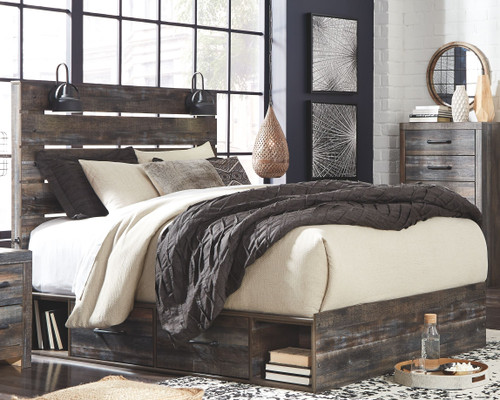 Drystan Multi Queen Panel Bed with 2 Side Drawers