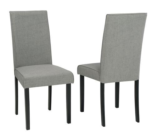 Kimonte Dark Brown/Gray Dining Upholstered Side Chair