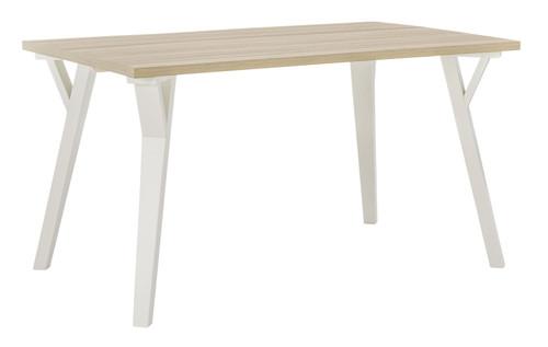 Grannen White/Natural Rectangular Dining Room Table