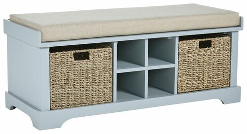 Dowdy Gray Storage Bench