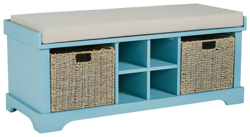 Dowdy Teal Storage Bench