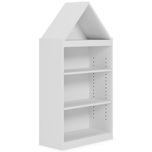 Blariden White Bookcase
