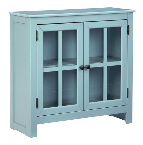 Nalinwood Teal Accent Cabinet