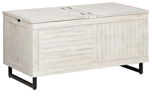 Coltport Distressed White Storage Trunk