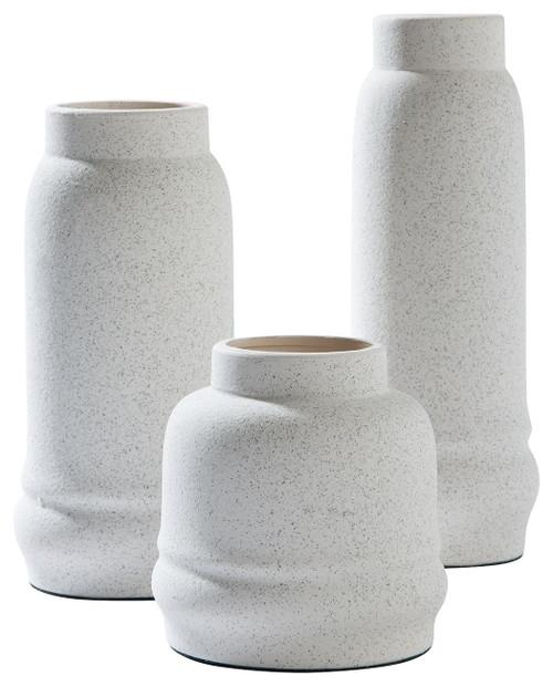 Jayden White Vase Set (3/CN)