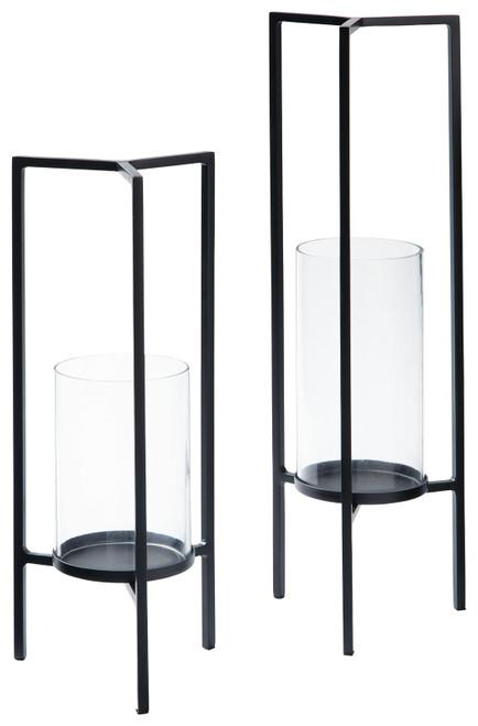 Ginette Black Candle Holder Set (2/CN)