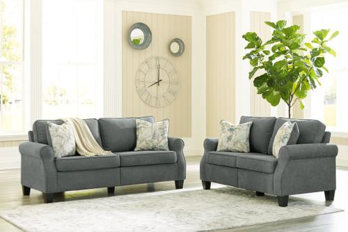 Alessio Charcoal 2 Pc. Sofa, Loveseat