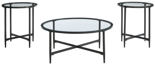 Stetzer Black Occasional Table Set (3/CN)