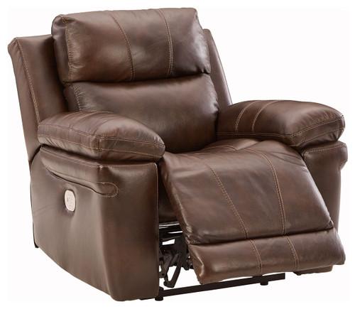Edmar Chocolate PWR Recliner/ADJ Headrest