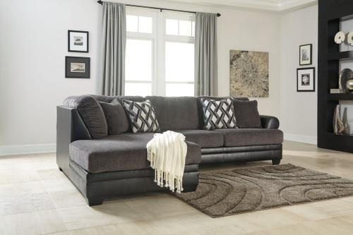 Kumasi Smoke Left Arm Facing Corner Chaise, Right Arm Facing Sofa Sectional
