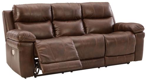 Edmar Chocolate PWR REC Sofa with ADJ Headrest