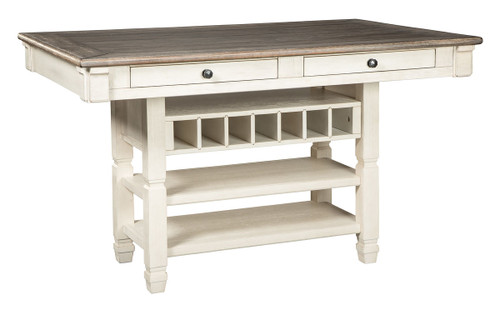Bolanburg Antique White Rectangular Dining Room Counter Table