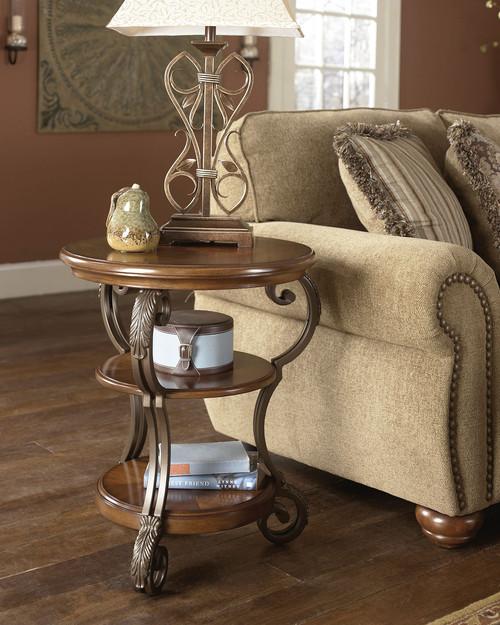 Nestor Medium Brown Chair Side End Table