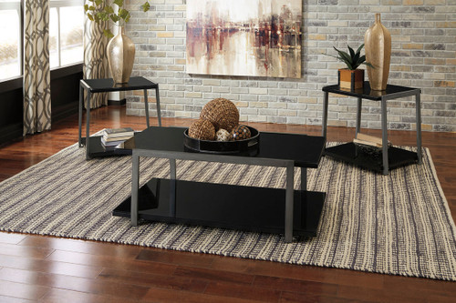 Rollynx Black Occasional Table Set