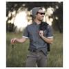 SLIDEBELTS Mens Ash Leather Graphite Buckle Belt (CONTRASTASHGRAPH)