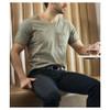 SLIDEBELTS Mens Vegan Black Leather With Black Buckle Belt (LTH-RAT-BLK-BLK)