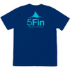 5FIN Mens Fin Logo SS Estate Blue T-Shirt (MFT1001-ESBL)