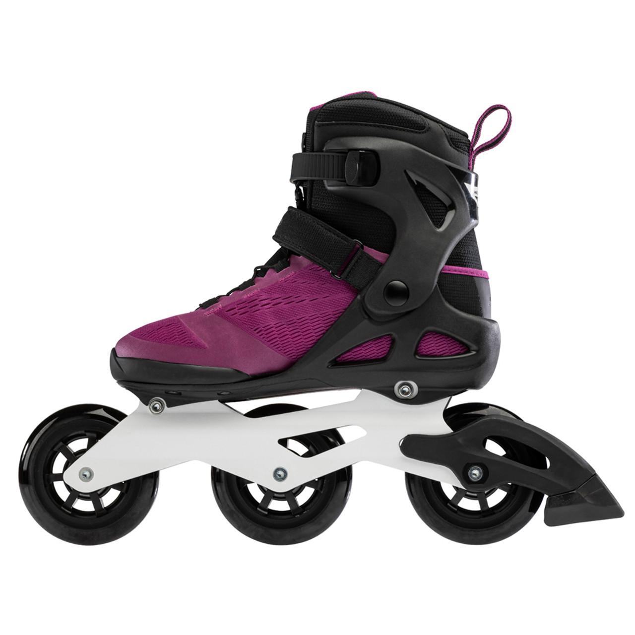 Violet//Black 275 Rollerblade Womens MACROBLADE 100 3WD W Inline Skates