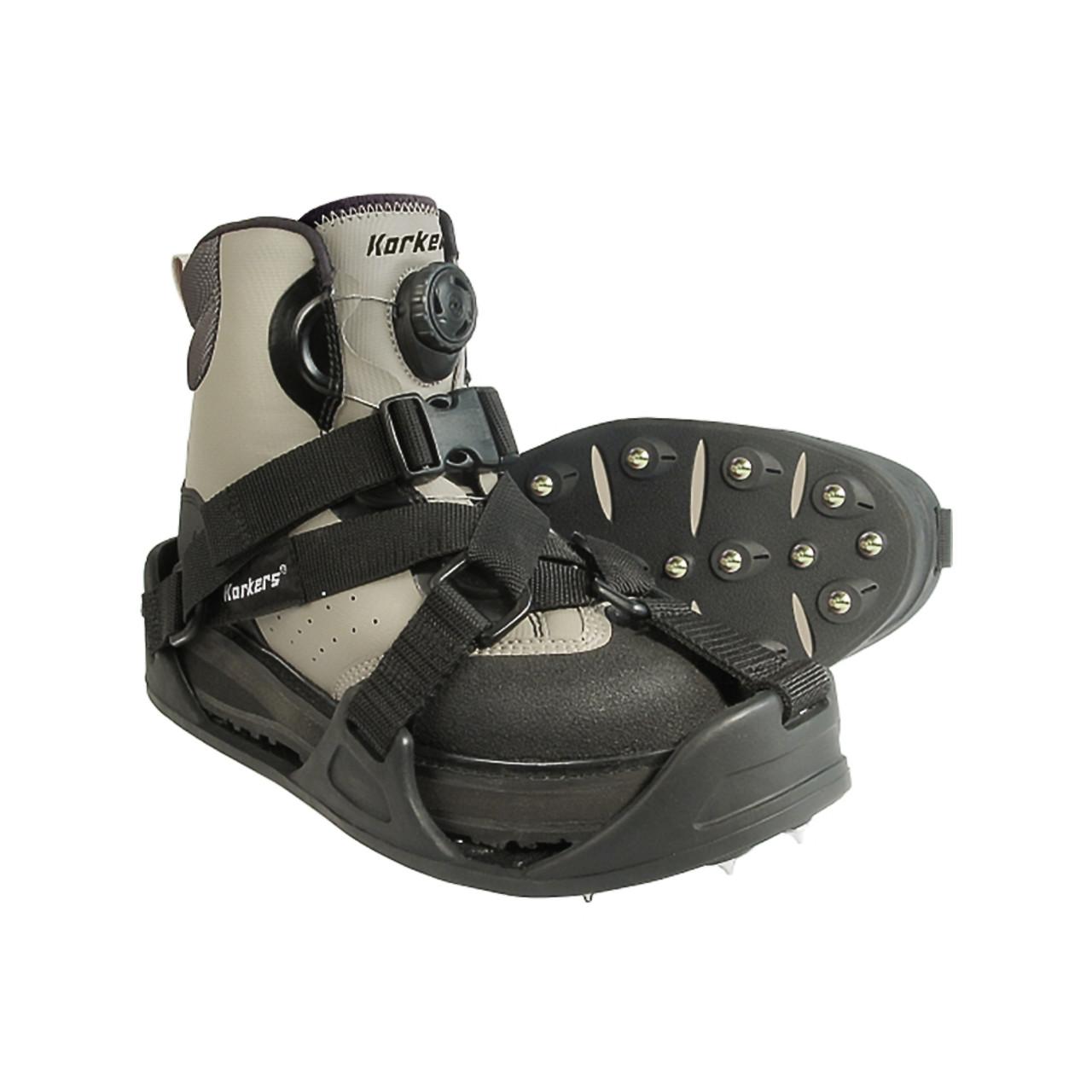 KORKERS RockTrax Plus Fishing Overshoe FA5101 Size Large Black//Moonrock