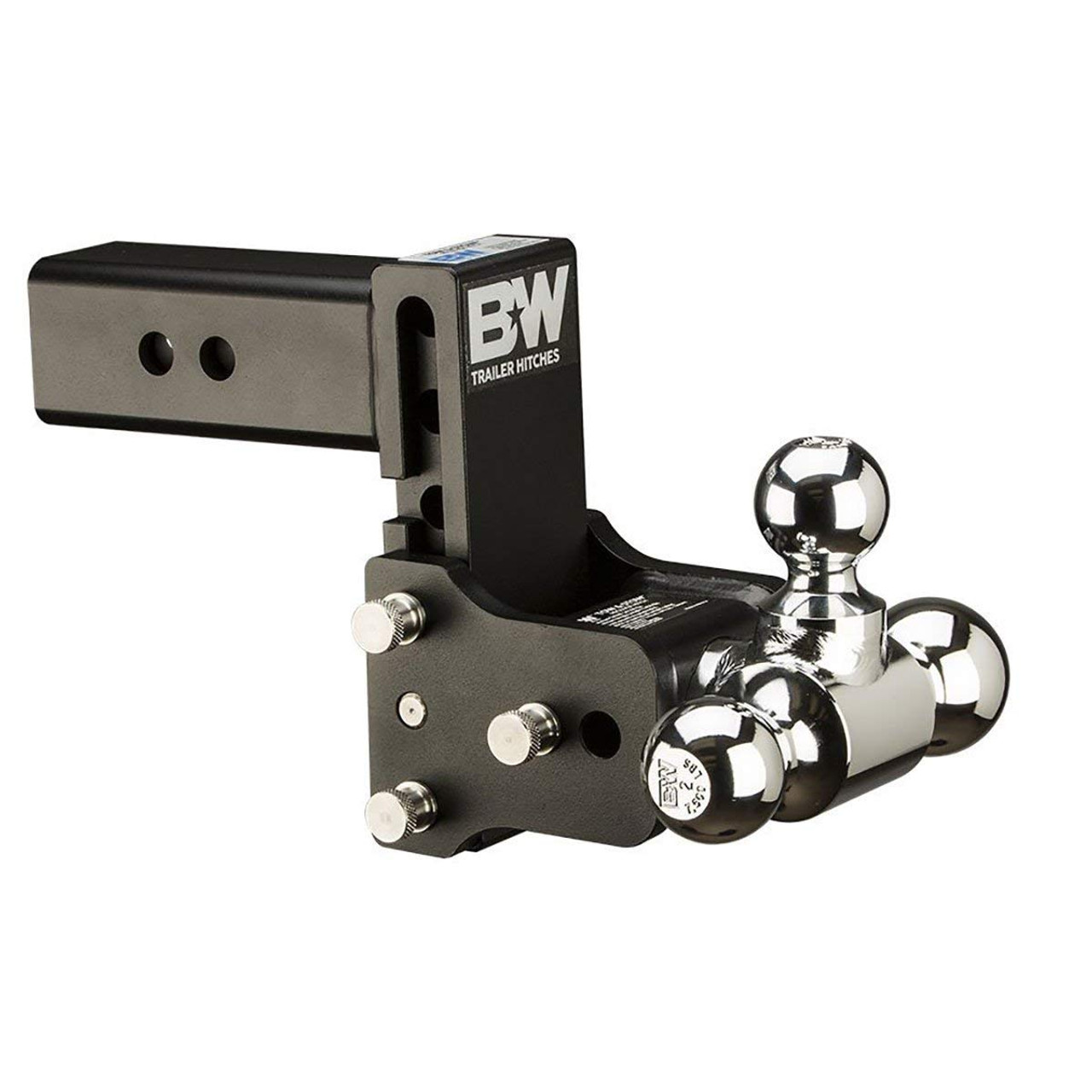 B/&W Tow /& Stow 5in Drop 4.5in Rise 2x2 5//16in Dual Ball Size Hitch