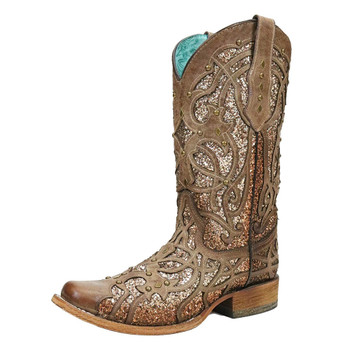 CORRAL Womens Marsha Orix Glittered Inlay Boot (C3275-LD)