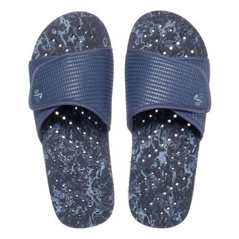 SHOWAFLOPS Mens Marble Dk Blue/Lt Blue Flip Flops (544)
