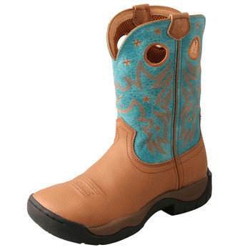 TWISTED X Women's All Around Camel/Turquoise Work Boot (WAB0012)