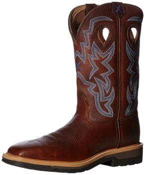 TWISTED X Mens Lite Cowboy Brown Pebble/Brown Pebble Workboot (MLCS003)