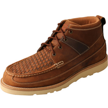 TWISTED X Men's 4in Woven Saddle/Oiled Saddle Wedge Sole Boot (MCA0032)