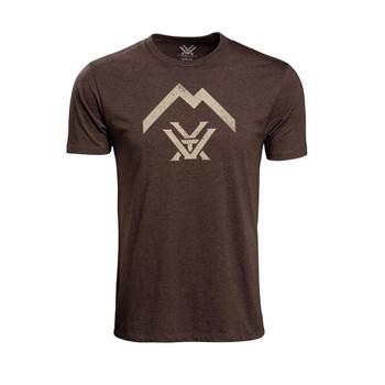VORTEX Mens Thin Air Brown Heather Short Sleeve Logo T-Shirt (120-19-BRH)