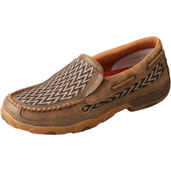 TWISTED X Womens Driving Slip On Bomber/Chevron Moccasins (WDMS020)