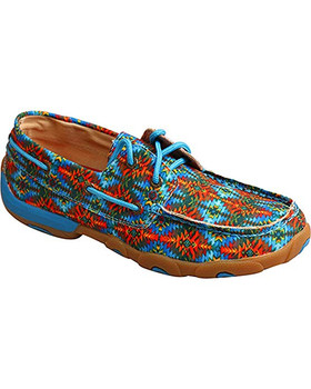 TWISTED X Womens Driving Multi Canvas Moccasins (WDM0097)