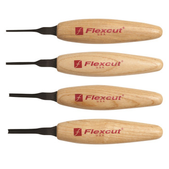 FLEXCUT 90 deg Parting Micro Woodcarving Tool Set (MT800)