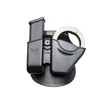 FOBUS Handcuff/Mag Combo Paddle Holster for Glock 9mm, .40 Cal Double-Stack Magazines and Chain Handcuffs (CU9G)