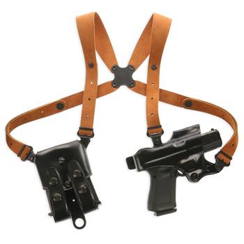 GALCO Jackass Rig for Glock 22 Black RH Shoulder System (JR224B)