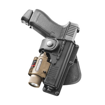 FOBUS fits Glock 17,22,31 Right Hand Tactical Speed Paddle with Light or Laser Holster (RBT17)