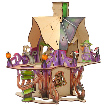 WOODBY Witch's Castle 3D Wooden Puzzle (00785)