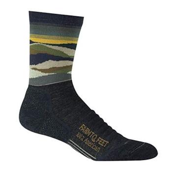 FARM TO FEET Mens Max Patch Charcoal 3/4 Crew Socks (9797-015)