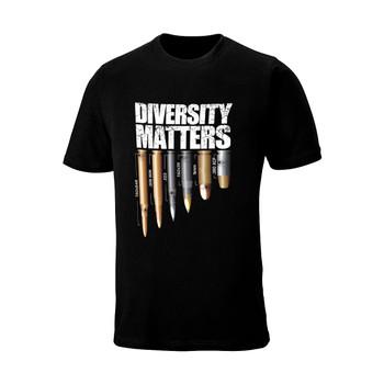 "WEBY Unisex ""Diversity Matters"" Black Hunting T-Shirt (DM)"
